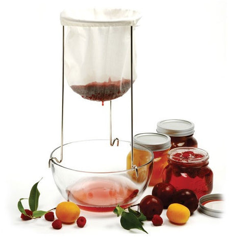 New Norpro # 614 Jelly Strainer + Bag Canning Preserves Jam