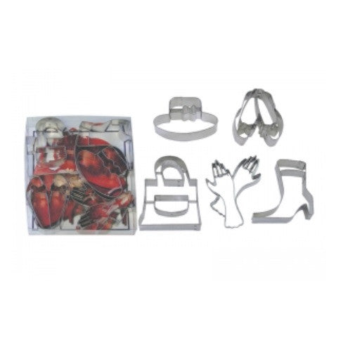 NEW # 1881 R & M Intl 5 pc Cookie Cutter Set - Ladies Accessories Fashionista