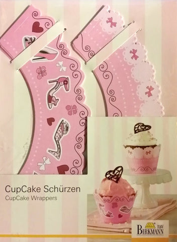 New Birkmann # 4187 8 pc Standard Fashion Cupcake Wrappers - Pink
