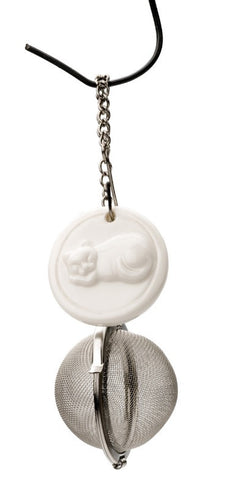 New RSVP International # T-CAT Stainless Tea Charm Cup Infuser - Cat
