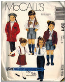 Used McCall's 3911 Sewing Pattern Childrens Jacket Shirt Skirt Pants Shorts Size 3