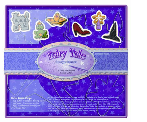 NEW # 36005 Fox Run 6 pc Fairy Tale Castle Crown Frog Shoe Wand Cookie Cutters