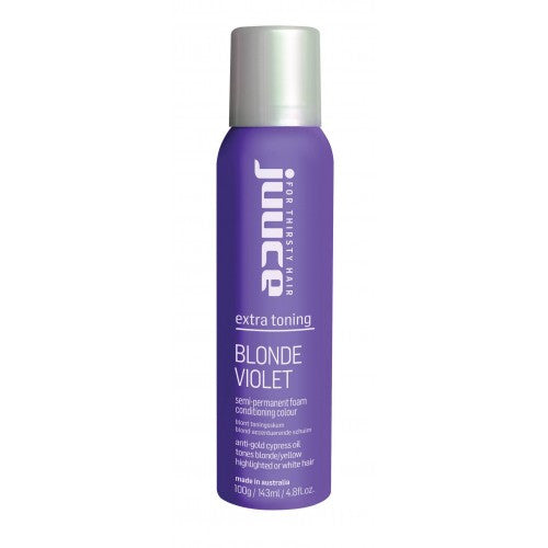 Juuce Blonde Violet Semi-Permanent Foam Conditioning Colour 100g