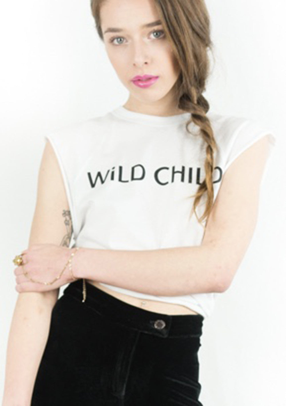 WiLD CHILD Vintage Wash Raglan Tee