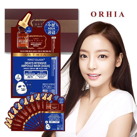 CORÉANA - Orthia Perfect Collagen - 28 Days Intensive Ampoule Aqua Mask | 高丽雅娜 CORÉANA - 肉毒杆菌涂抹式精华补水面膜