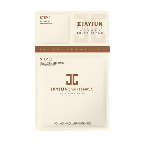 JAYJUN - Skin Fit Mask - Collagen Aqua Brightening | JAYJUN - 植物干细胞补水美白水光面膜