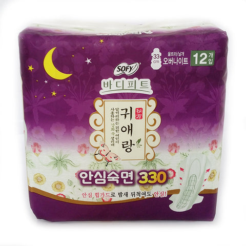 GUIERANG - Sofy Body Fit - Herbal Sanitary Pads - Overnight 33CM | 贵爱娘 GUIERANG - 中草药卫生巾 - 夜用 33CM