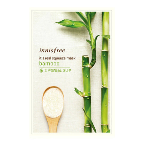 INNISFREE - It's Real Squeeze Mask - Bamboo | 悦诗风吟 INNISFREE - 真萃鲜润面膜 - 竹子