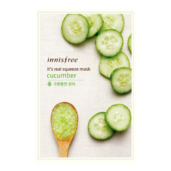 INNISFREE - It's Real Squeeze Mask - Cucumber | 悦诗风吟 INNISFREE - 真萃鲜润面膜 - 黄瓜