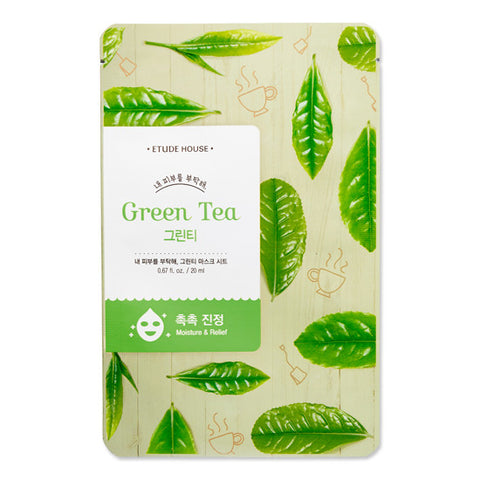 ETUDE HOUSE - I Need You Mask Sheet - Green Tea | 爱丽小屋 ETUDE HOUSE - I Need You 面膜 - 绿茶