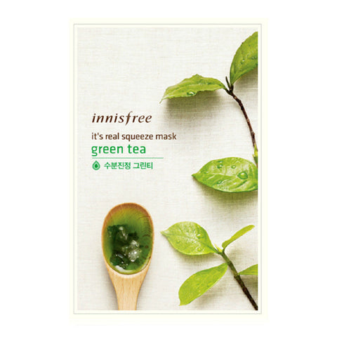 INNISFREE - It's Real Squeeze Mask - Green Tea | 悦诗风吟 INNISFREE - 真萃鲜润面膜 - 绿茶