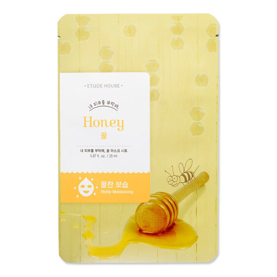 ETUDE HOUSE - I Need You Mask Sheet - Honey | 爱丽小屋 ETUDE HOUSE - I Need You 面膜 - 蜂蜜