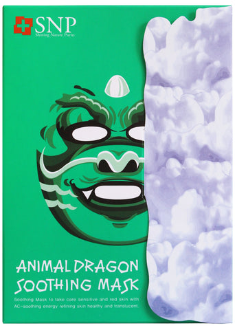 SNP - Animal Dragon Soothing Mask - Coconut Water Facial Mask | SNP - 动物神龙镇定舒缓面膜