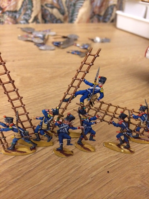 34.1 War in Spain - French Light infantry, ladder attack