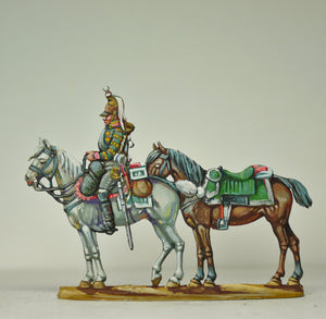 Trumpeter with Officers horse - Glorious Empires-Historical Miniatures
