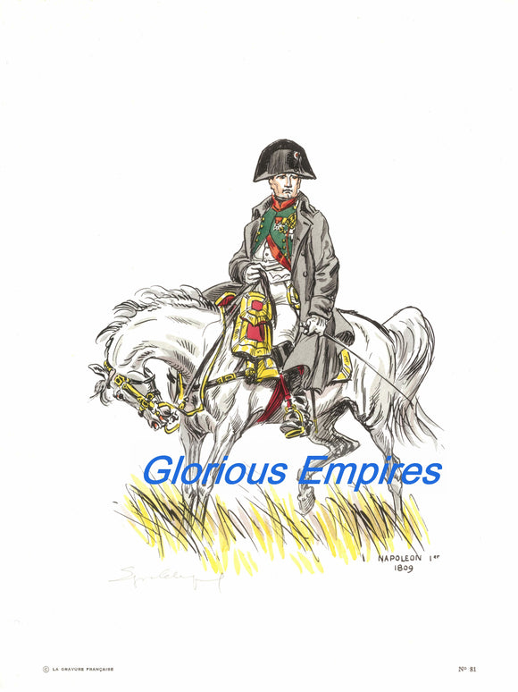 print 81 : Napoleon Bonaparte - Glorious Empires-Historical Miniatures