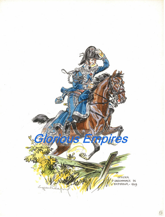 print 84 : Officier d'Ordonnance de l'Empereur - Glorious Empires-Historical Miniatures