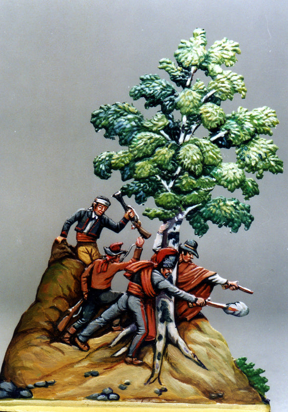 Guerilleros behind trees, 1-sided - Glorious Empires-Historical Miniatures