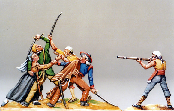 Blind man trying to defend his wife, 1-sided - Glorious Empires-Historical Miniatures