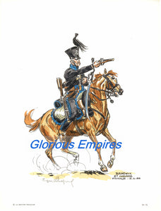 Print 71: Brunswick 2e Waterloo-18-6-1815 - Glorious Empires-Historical Miniatures
