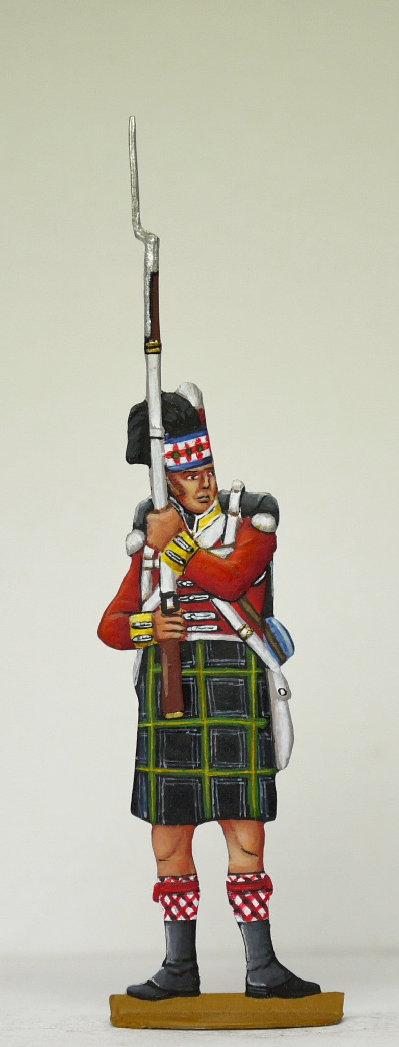 Soldier musket loaded, vertical - Glorious Empires-Historical Miniatures