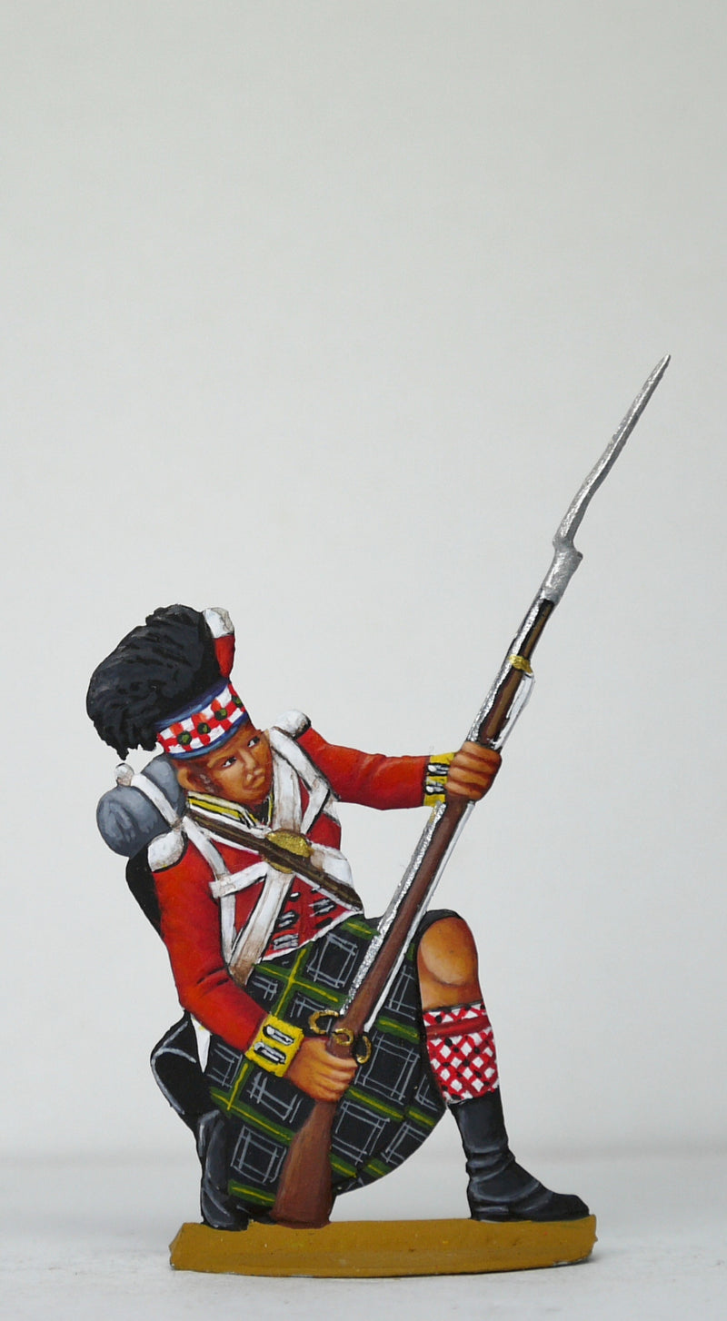 Soldier kneeling, leaning backwards (avoiding fallen horses hoofs?) - Glorious Empires-Historical Miniatures