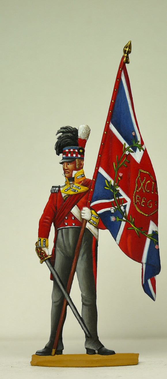 Officer with Kings Colours - Glorious Empires-Historical Miniatures