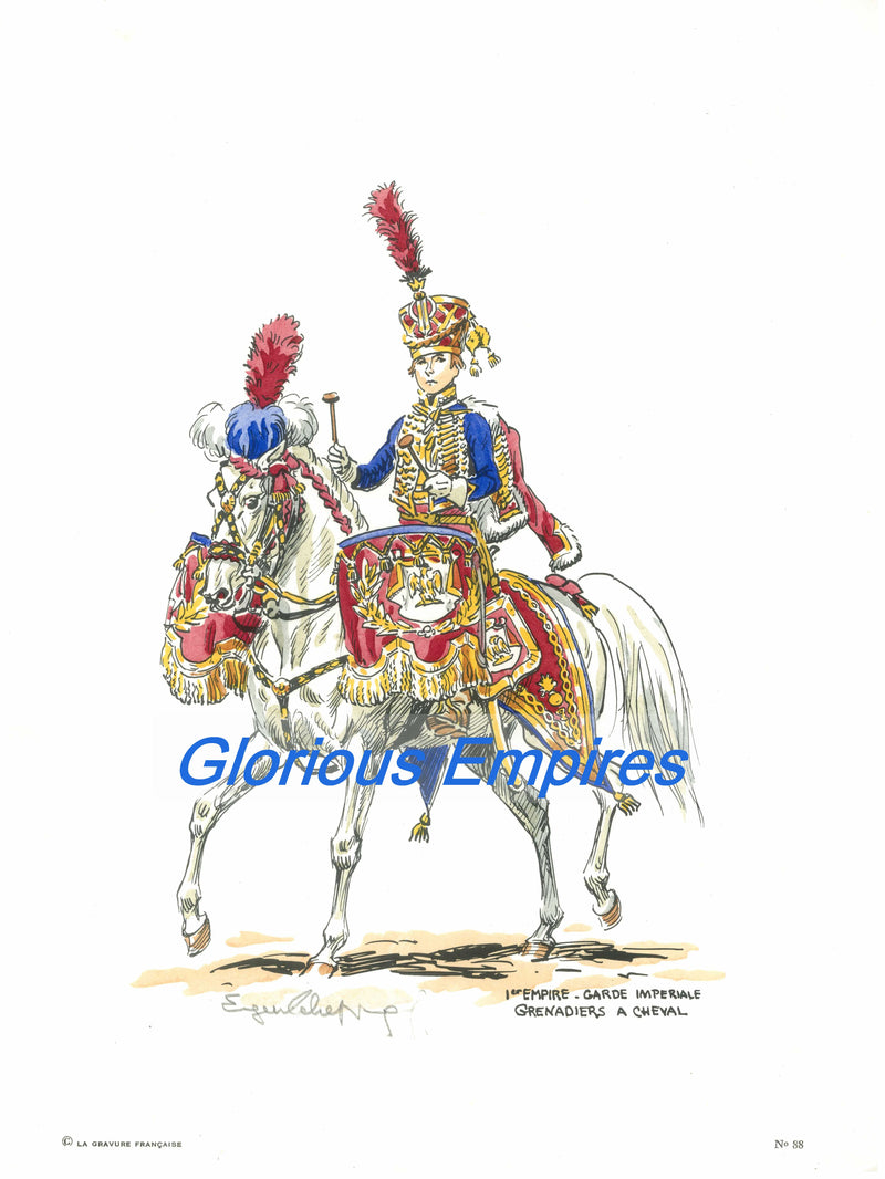 print 88 : Garde Imperial Grenadiers a cheval - Glorious Empires-Historical Miniatures