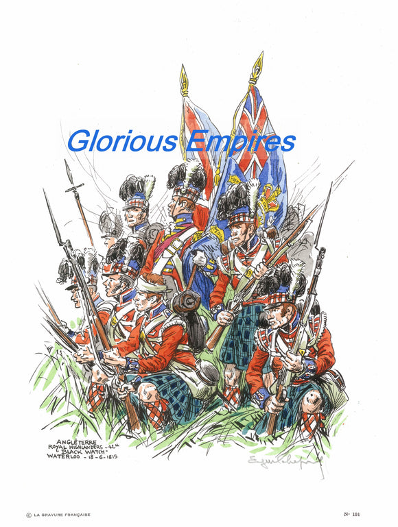 print 101 : Black watch Waterloo - Glorious Empires-Historical Miniatures