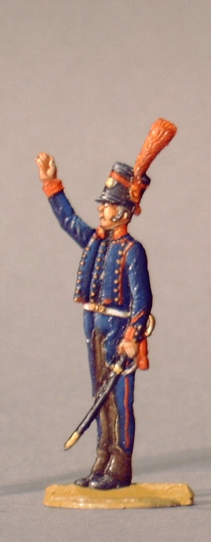 NCO ordering firing - Glorious Empires-Historical Miniatures