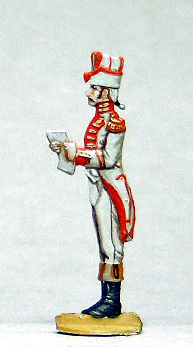 Officer reading out Napoleons daily orders. - Glorious Empires-Historical Miniatures