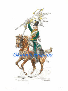print 80 : France, 7eme Hussards, 18 - Glorious Empires-Historical Miniatures