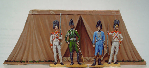 33.3 Staff tent with staff and guards - Glorious Empires-Historical Miniatures