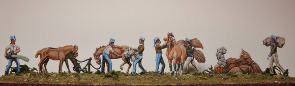 French Cavalry looking after horses (FULL set) - Glorious Empires-Historical Miniatures