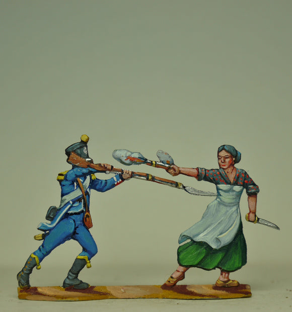 Couple fighting,  figures A and B - Glorious Empires-Historical Miniatures
