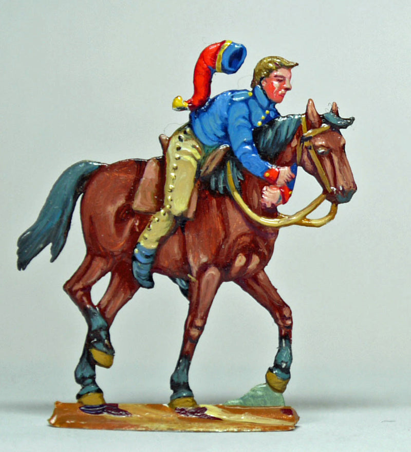 trooper, hanging-on for dear life - Glorious Empires-Historical Miniatures