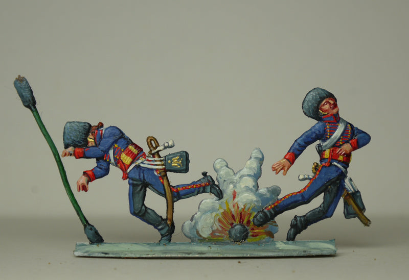 gunners in explosion - Glorious Empires-Historical Miniatures
