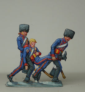 Gunners carrying wounded - Glorious Empires-Historical Miniatures