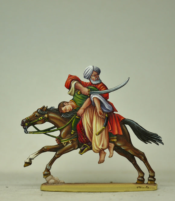 Mameluck saving wounded comrade - Glorious Empires-Historical Miniatures