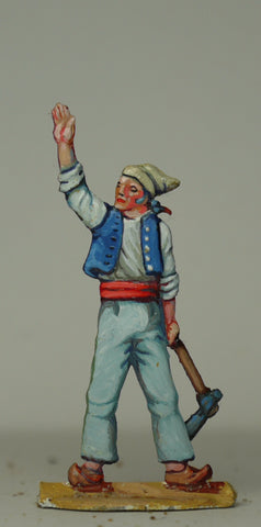 Carpenter waving