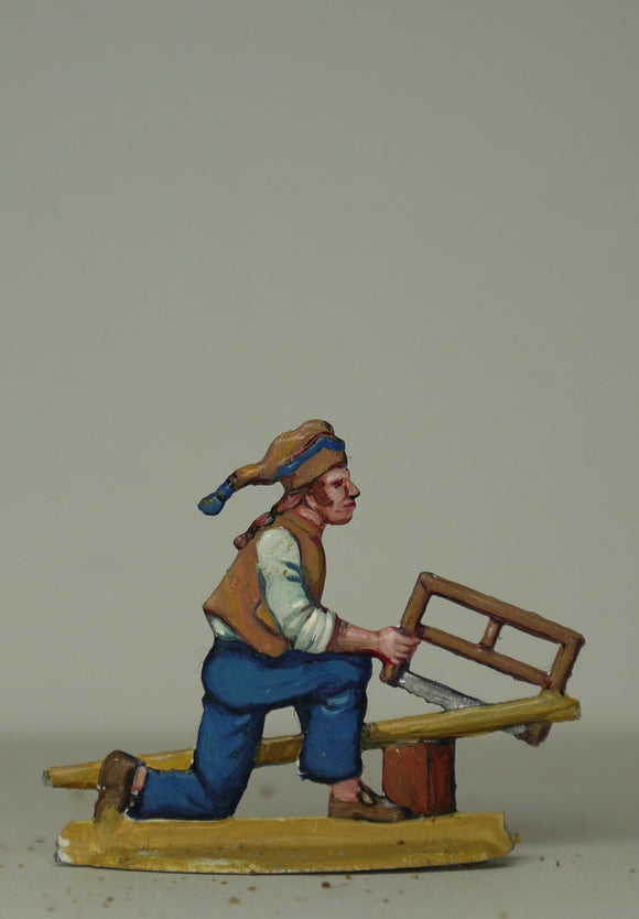 Carpenter sawing - Glorious Empires-Historical Miniatures