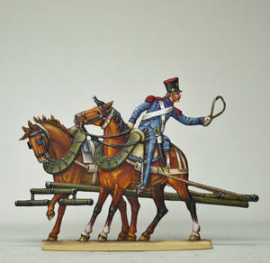 Horseteam rear (plume broken off in this photo) - Glorious Empires-Historical Miniatures