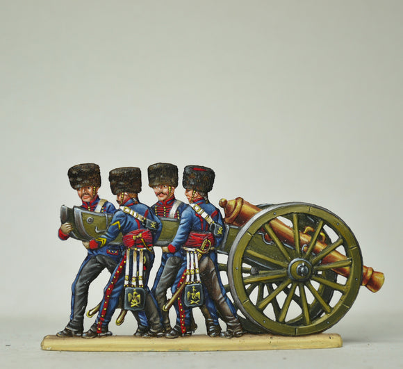 Troopers un-limbering gun - Glorious Empires-Historical Miniatures