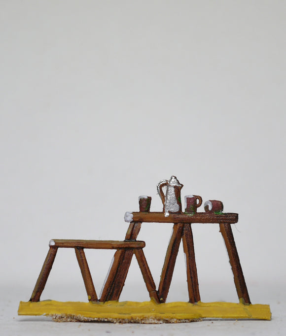 Table and bench - Glorious Empires-Historical Miniatures