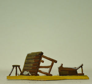 Overturned table and bench, 30mm - Glorious Empires-Historical Miniatures