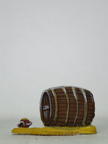 Beer barrel and jug, 30mm
