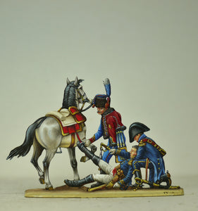 General Sorbier wounded, with Artillery trumpeter and Aide de Camp - Glorious Empires-Historical Miniatures