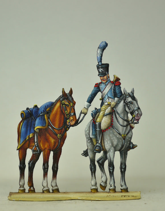 Artillery Train trumpeter with Aides Horse - Glorious Empires-Historical Miniatures