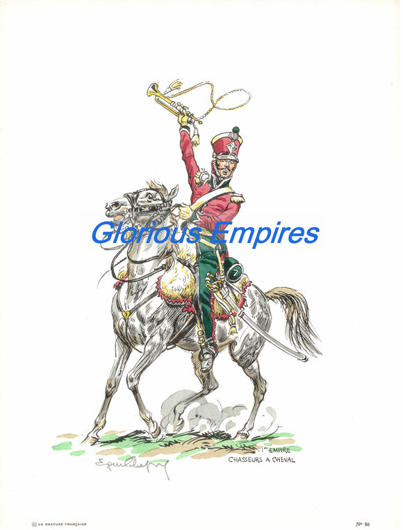 print 86 : 1er Empire Chasseur a cheval - Glorious Empires-Historical Miniatures