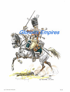 Print 89: 1er empire 27e Dragons- C ie d Elite - Glorious Empires-Historical Miniatures